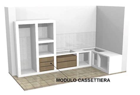 cassettiere per cucina modulo cassettiera per cucine in muratura