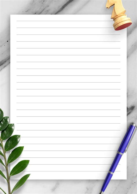 printable lined paper template wide ruled mm