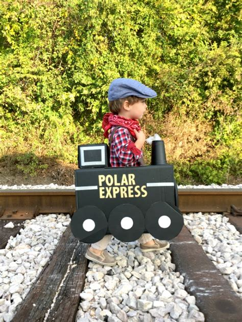 how to make a polar express paper christmas tree cardboard box costume c r a f t