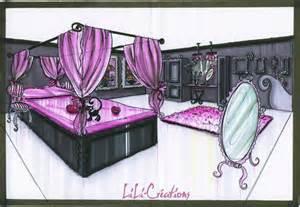 Chambre Rose Et Noir Baroque
