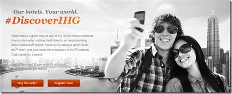 Ihg Sweepstakes - participate in ihg s instagram sweepstakes for 1 million points live from a lounge