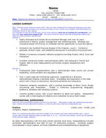 Exles Of Professional Summary For Resumes by Resume Professional Summary Exles Getessay Biz