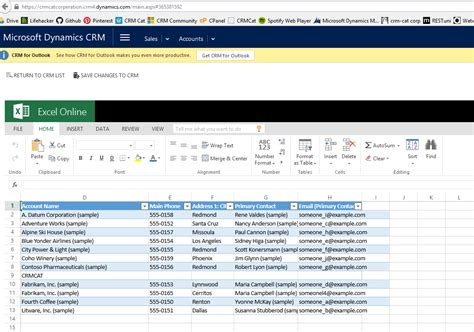 excel online the new features of crm 2015 update 1 how to use them