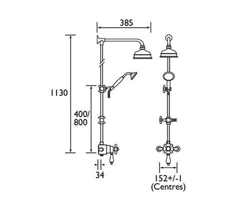 Bristan Shower Diverter Valve by Bristan 1901 Thermostatic Valve With Rigid Riser And Diverter