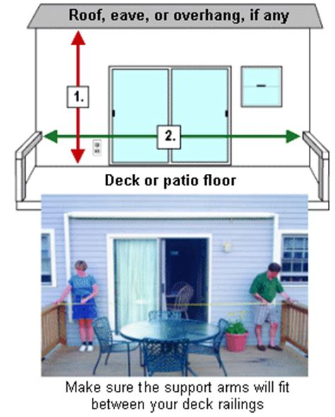 sunsetter awning instructions awning measuring instructions sunsetter retractable awnings