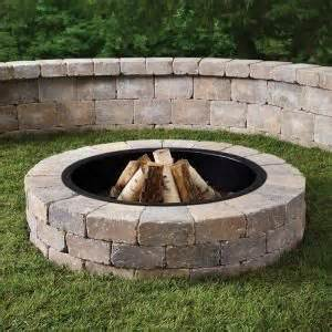 52 in northwoods fresco pit kit with metal liner