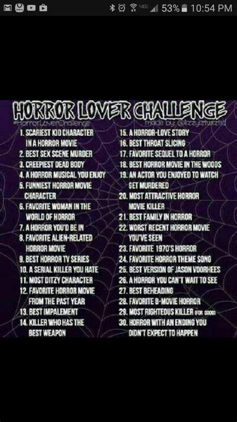 horror challenge horror lover challenge horror amino