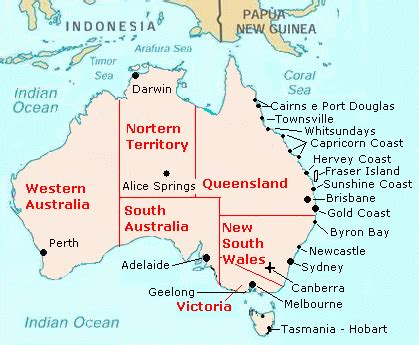 map of australia east coast with cities cities of australia information lifestyle and tourism