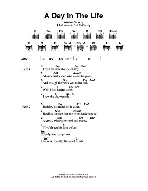 day lyrics in a day in the sheet by the beatles lyrics