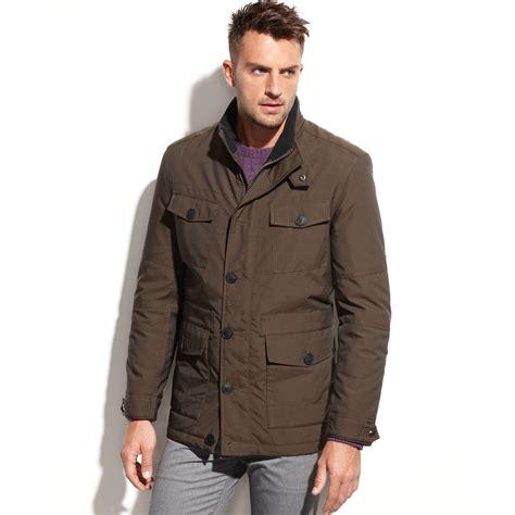 Newyork Jacket Fleece 3 marc new york oak fleece collar field jacket in green for olive lyst