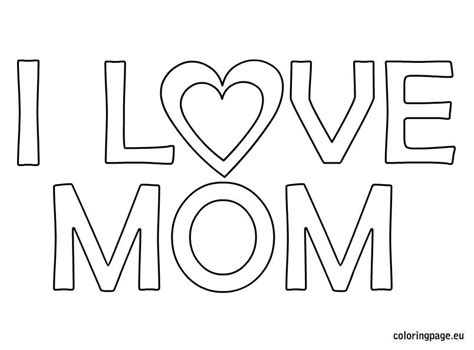 love  mom coloring coloring page