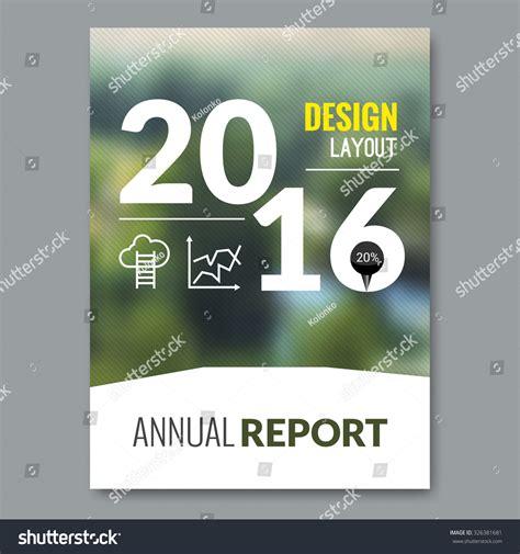 cover design nature cover magazine design template beautiful annual stock