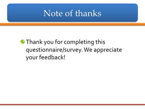 Thank You Letter Questionnaire Ncompass Live Conducting Surveys I Introduction And Questionnaire D