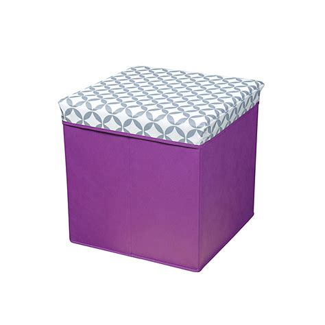 Patterned Storage Ottoman Bintopia Folding Storage Ottoman Purple Pattern Home