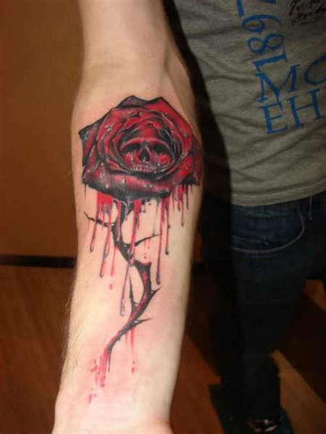 tattoo girl bleeding eyes 31 supreme skull rose tattoos gun candy