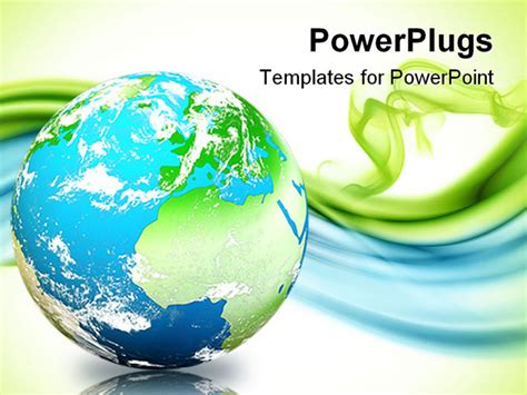 ppt templates free download green earth best powerpoint template reflective globe floating over
