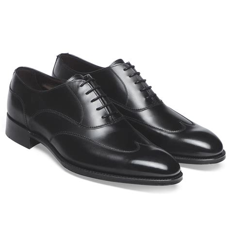 black oxford shoe cheaney balmoral black oxford shoes made in