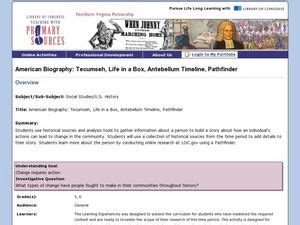 biography lesson plans for 5th grade american biography tecumseh life in a box antebellum