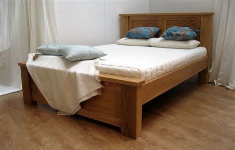 a solid wood bed frame combines traditional
