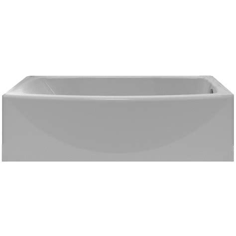 bathtub lowes shop american standard saver 60 in arctic acrylic skirted