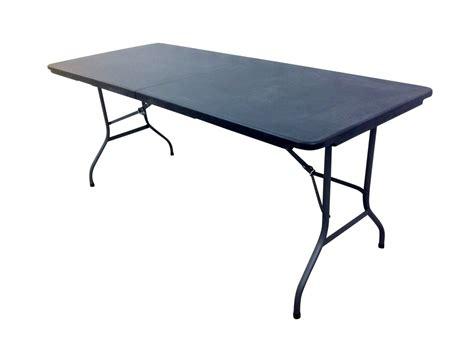 home goods folding table 6ft folding plastic table black eazy goods