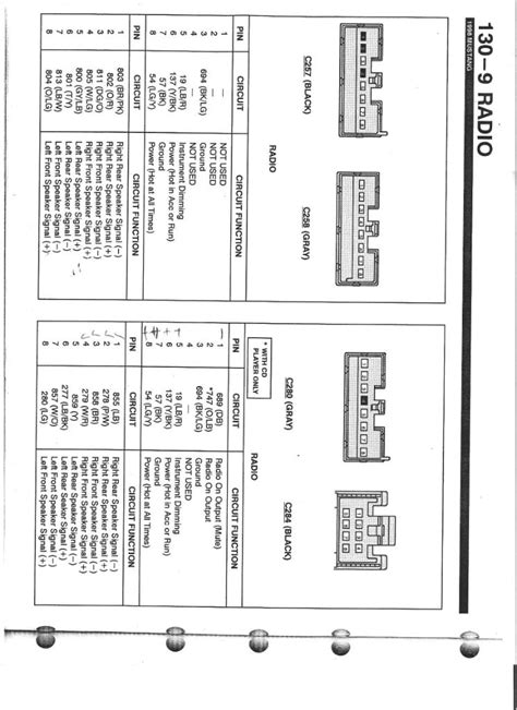 2002 mustang mach stereo wiring diagram free