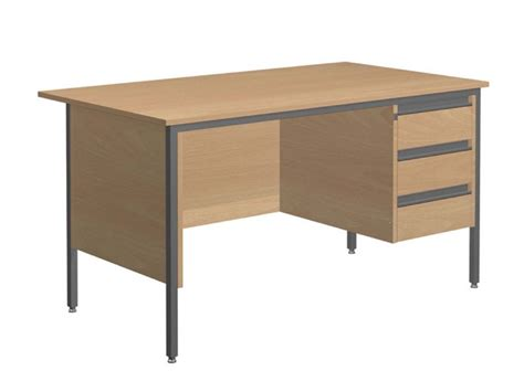 Single Table by Galaxy Single Pedestal Office Desk Rh Pedestal Tables