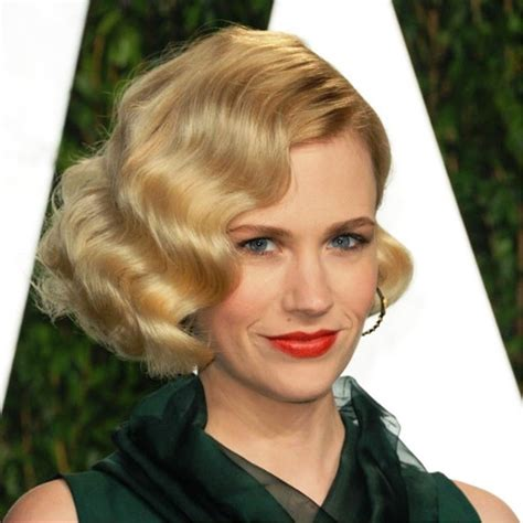 bob hairstyle january jones bob pictures of january jones short curly bob hairstyle