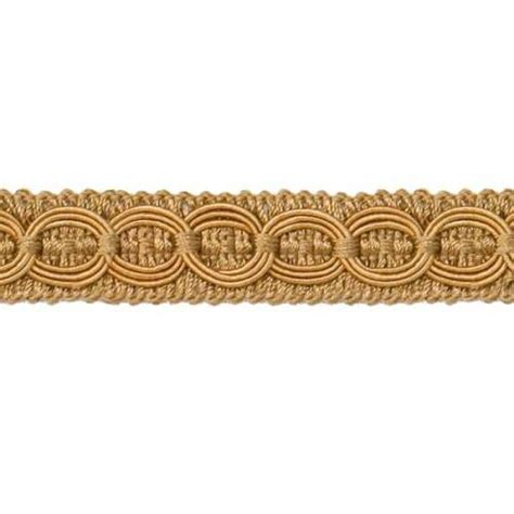 Upholstery Trimmings by Woven Braid Circle Gold Gimp Sewing Upholstery Trim 3 4