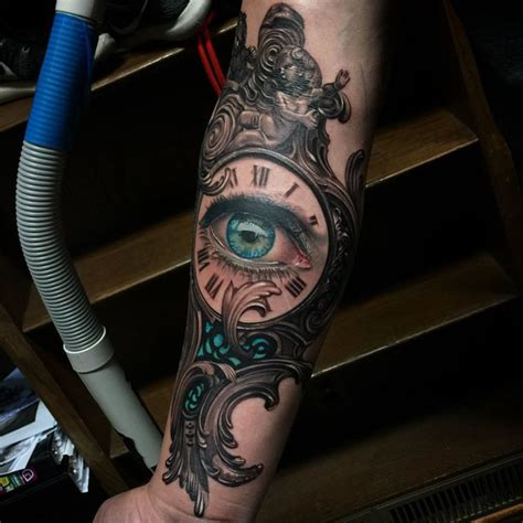 tattoo eye and clock baroque clock tattoo eye best tattoo ideas gallery