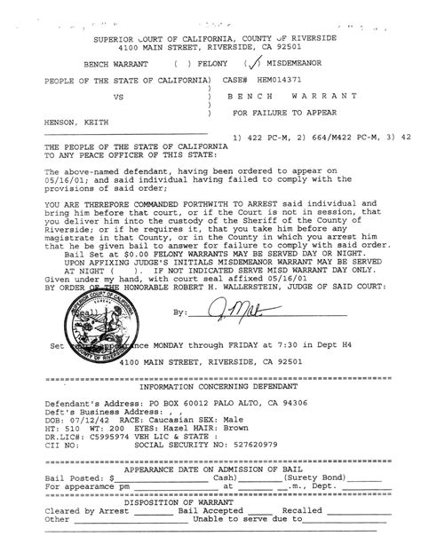 Outstanding Warrants Search Blank Arrest Warrant Www Imgkid The Image Kid Has It