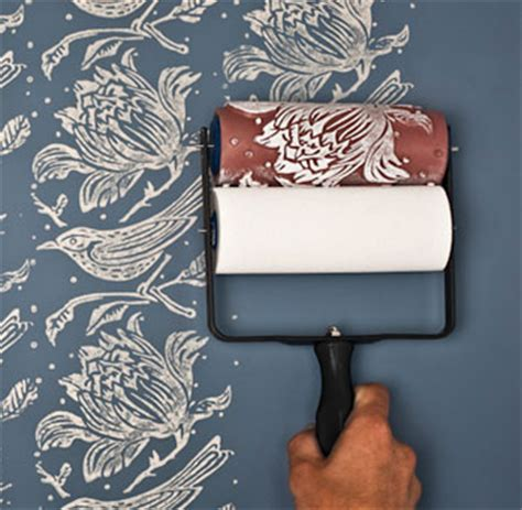 wallpaper paint roller the rollers the painted house