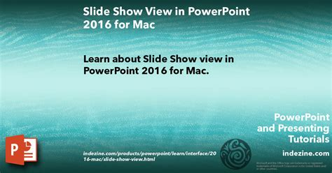 Slide Show View In Powerpoint 2016 For Mac Show Powerpoint