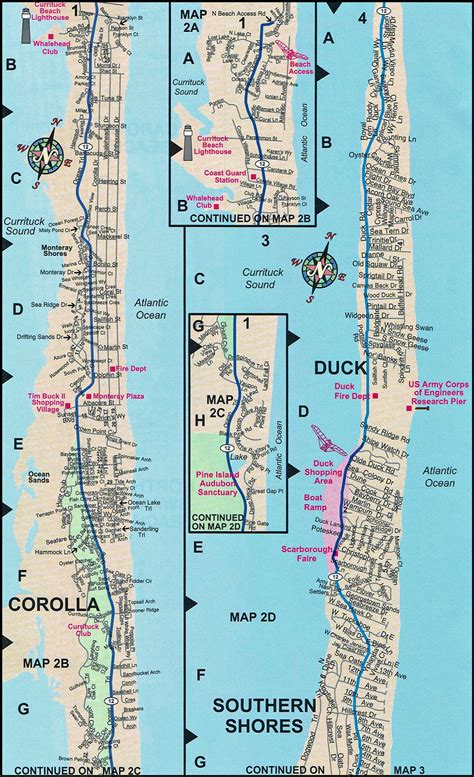 duck carolina map duck map duck nc map outer banks maps