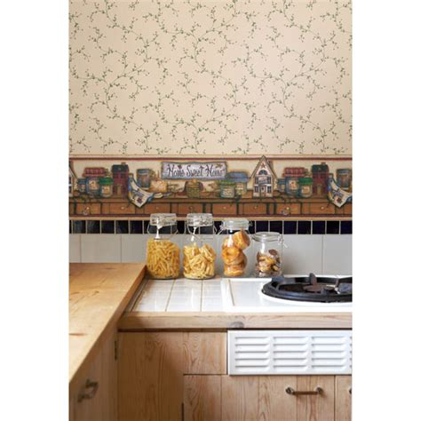 country kitchen brewster 418b06754 display shelf border home sweet home