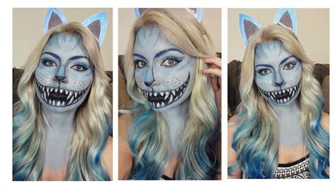 zombie cat tutorial cheshire cat halloween makeup tutorial 2014 series youtube