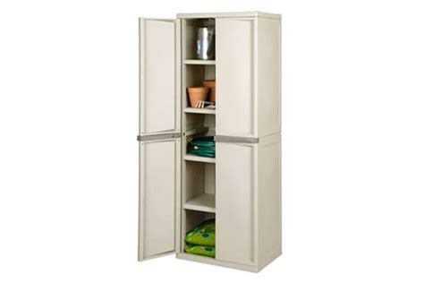 Sterilite 4 Shelf Storage Unit by Sterilite 4 Shelf Cabinet With Bonus 5 Shelf Shelving Unit