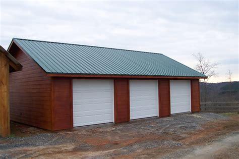 Metal 3 Car Garage by 3 Car Garage With A Metal Roof