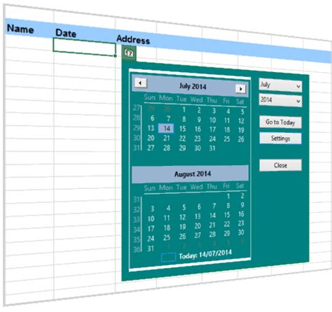 custom calendar excel 2010 excel date and time picker