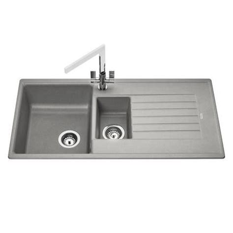 howdens kitchen sinks howdens lamona grey granite composite 1 5 bowl sink 1000mm