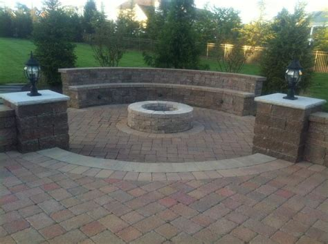 Brick Patio With Pit by Paver Patios Search The Great Outdoors