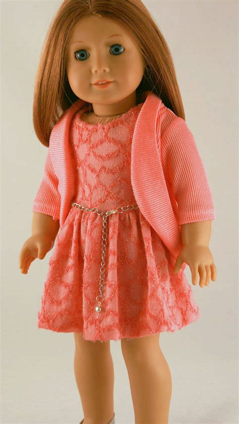 girls clothing etsy american girl doll clothes spring dress in coral knit