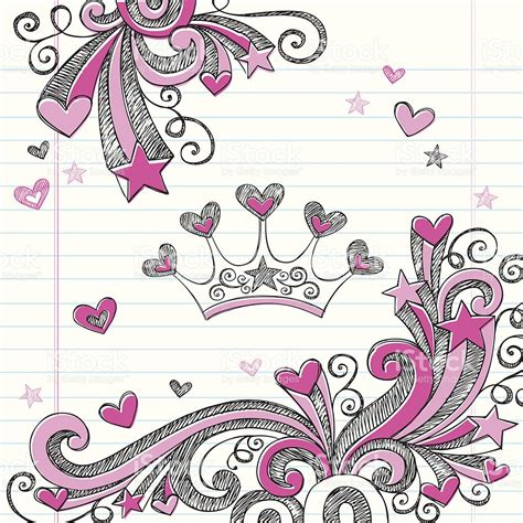 doodle tiara princess tiara sketchy notebook doodles vector