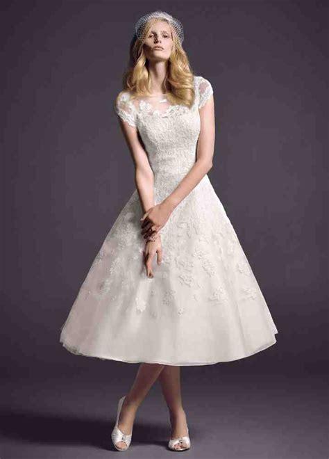 Wedding Hair For Cap Sleeve Dress by Tea Length Wedding Dresses With Cap Sleeves Wedding And