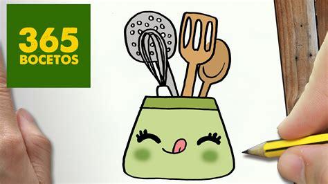 cosas faciles de cocinar como dibujar utiles de cocina kawaii paso a paso dibujos