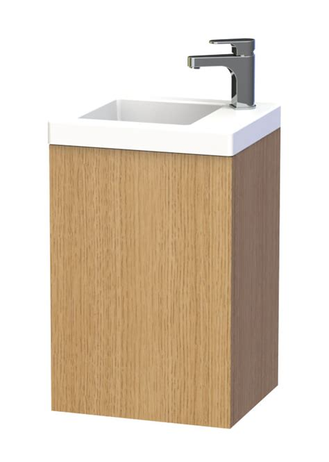 Bathroom Furniture Nyc Miller New York 40 Oak Wall Hung Basin Vanity Unit With Door 284v 5