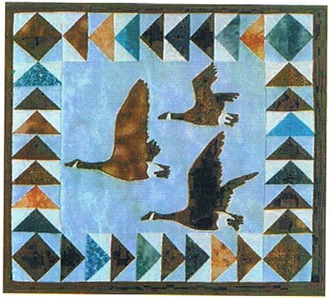 Goose Quilt Pattern by Canada Geese Mini Quilt Pattern Alaskan Patterns