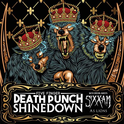five finger death punch uk tour five finger death punch shinedown co headlining tour