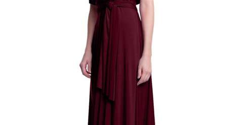 Maxi Vera Maroon maxi convertible dress burgundy wine evening and