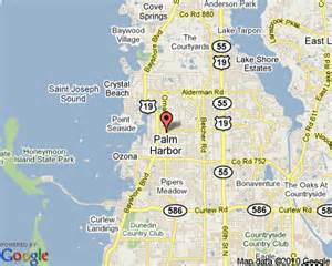 Palm Harbor Florida Map by Palm Harbor Florida